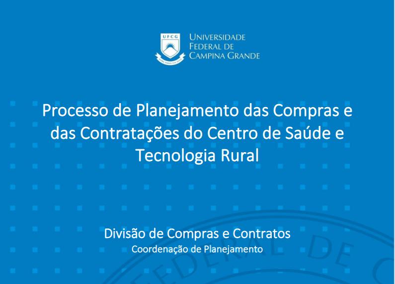 Novas Orientações para Setores e Unidades Acadêmicas sobre Compras e Contratações no CSTR