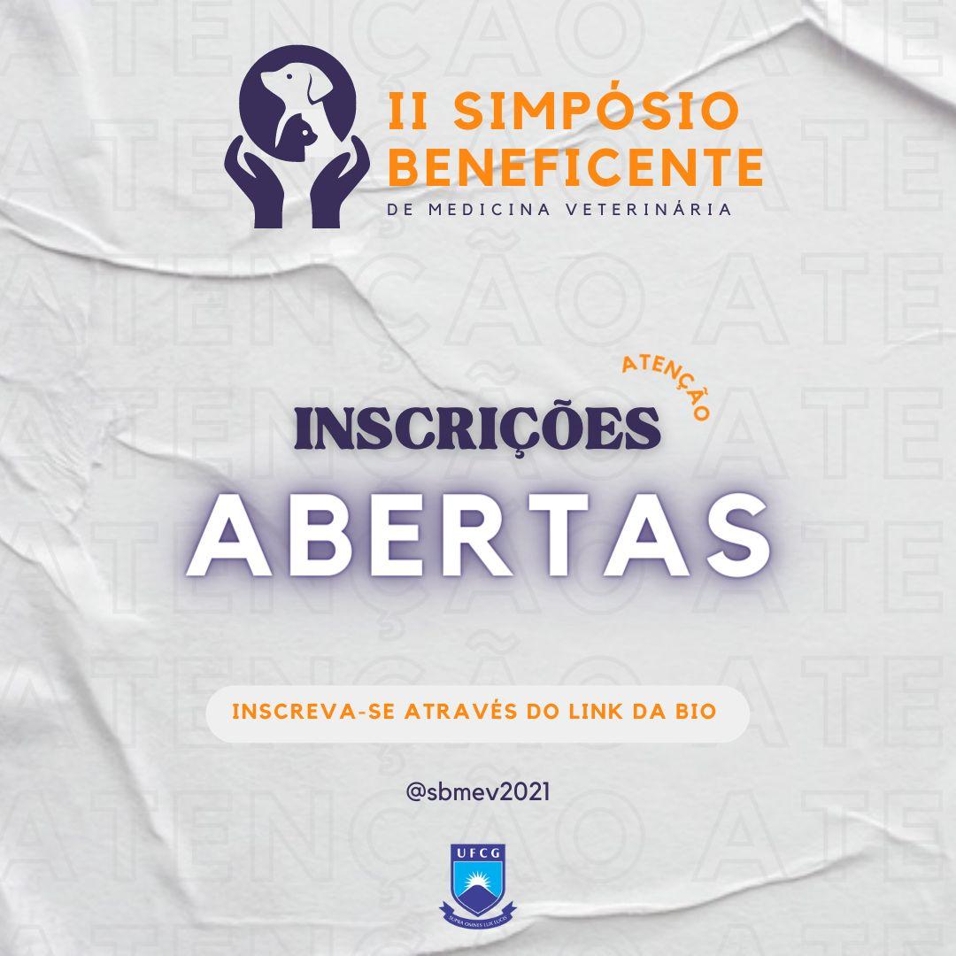 II SIMPÓSIO BENEFICENTE - INSCRIÇÕES ABERTAS